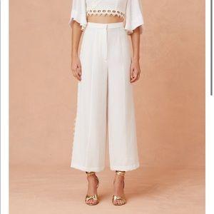 "Keepsake the label ""new look"" white pants"